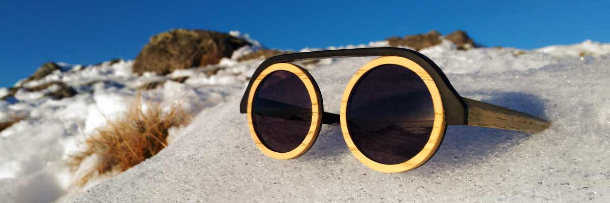 banniere lunettes en bois PEAK SERIE