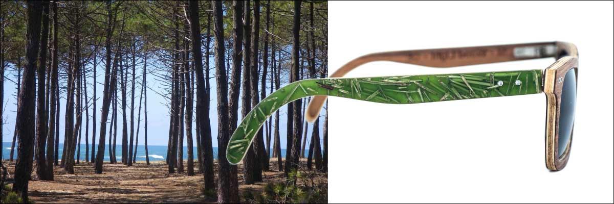 baniere lunettes en bois west series