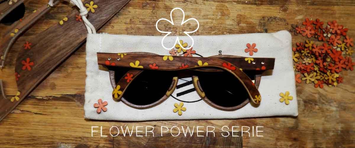 lunettes de soleil en bois collection flower power modèle river
